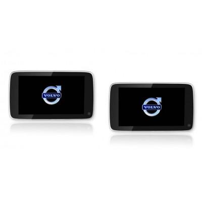 Комплект навесных мониторов Ergo ER11VL на подголовники для Volvo